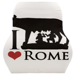 I Love Rome Graphic Icon Car Seat Back Cushion  by dflcprints