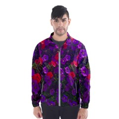 Purple Petunias Windbreaker (men) by bloomingvinedesign