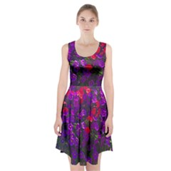 Purple Petunias Racerback Midi Dress by bloomingvinedesign