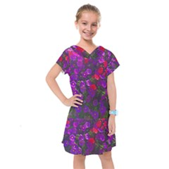 Purple Petunias Kids  Drop Waist Dress by bloomingvinedesign