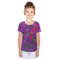 Purple Petunias Kids  One Piece Tee by bloomingvinedesign