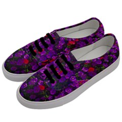 Purple Petunias Men s Classic Low Top Sneakers by bloomingvinedesign