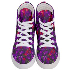 Purple Petunias Men s Hi Top Skate Sneakers