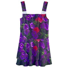 Purple Petunias Kids  Layered Skirt Swimsuit by bloomingvinedesign