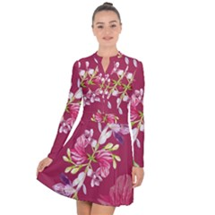 Motif Design Textile Design Long Sleeve Panel Dress