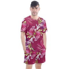 Motif Design Textile Design Men s Mesh Tee And Shorts Set