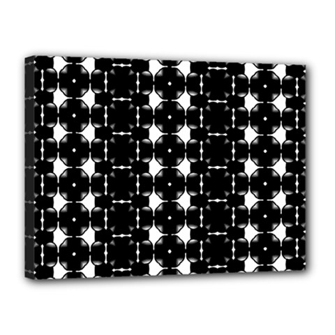Black And White Pattern Canvas 16  X 12  (stretched)