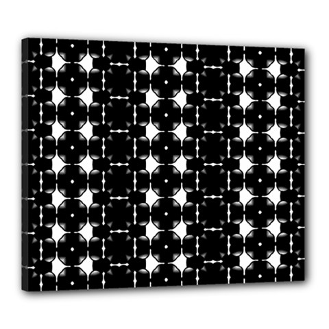 Black And White Pattern Canvas 24  X 20  (stretched)