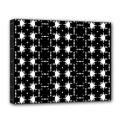 Black And White Pattern Deluxe Canvas 20  X 16  (stretched)