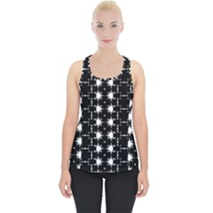 Black And White Pattern Piece Up Tank Top by Simbadda