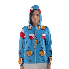 Design Decoration Decor Pattern Hooded Windbreaker (women)
