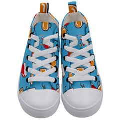 Design Decoration Decor Pattern Kid s Mid Top Canvas Sneakers