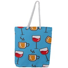Design Decoration Decor Pattern Full Print Rope Handle Tote (large)