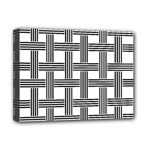 Seamless Stripe Pattern Lines Deluxe Canvas 16  X 12  (stretched)