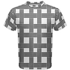 Seamless Stripe Pattern Lines Men s Cotton Tee