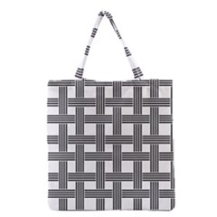 Seamless Stripe Pattern Lines Grocery Tote Bag by Simbadda