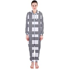 Seamless Stripe Pattern Lines Hooded Jumpsuit (ladies)