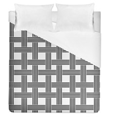 Seamless Stripe Pattern Lines Duvet Cover (queen Size)