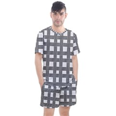 Seamless Stripe Pattern Lines Men s Mesh Tee And Shorts Set