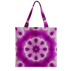 Pattern Abstract Background Art Zipper Grocery Tote Bag