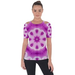Pattern Abstract Background Art Shoulder Cut Out Short Sleeve Top