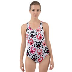 Kitty Cut Out Back One Piece Swimsuit