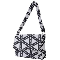 White Background White Texture Full Print Messenger Bag