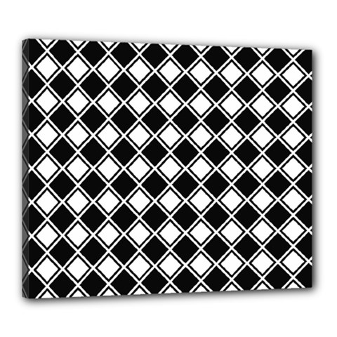 Square Diagonal Pattern Seamless Canvas 24  X 20  (stretched)