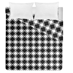 Square Diagonal Pattern Seamless Duvet Cover Double Side (queen Size)
