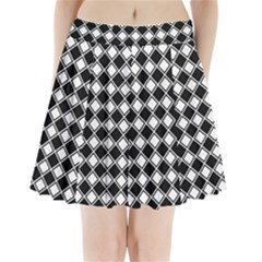 Square Diagonal Pattern Seamless Pleated Mini Skirt
