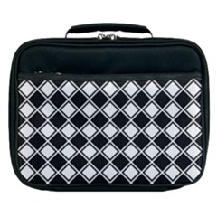Square Diagonal Pattern Seamless Lunch Bag