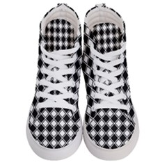 Square Diagonal Pattern Seamless Men s Hi Top Skate Sneakers