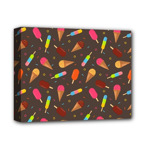 Ice Cream Pattern Seamless Deluxe Canvas 14  X 11  (stretched)