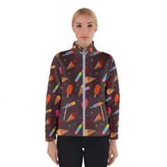 Ice Cream Pattern Seamless Winter Jacket
