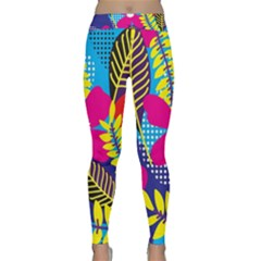 Design Decoration Decor Floral Pattern Classic Yoga Leggings