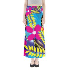 Design Decoration Decor Floral Pattern Full Length Maxi Skirt