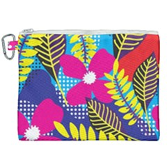 Design Decoration Decor Floral Pattern Canvas Cosmetic Bag (xxl)