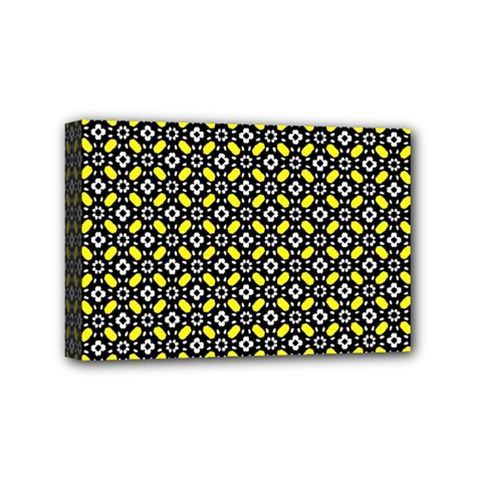 Flower Pattern Pattern Texture Mini Canvas 6  X 4  (stretched)