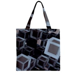 Cube Fantasy Square Shape Zipper Grocery Tote Bag