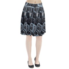 Cube Fantasy Square Shape Pleated Skirt