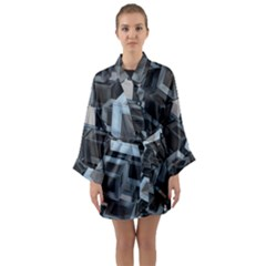 Cube Fantasy Square Shape Long Sleeve Kimono Robe