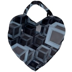 Cube Fantasy Square Shape Giant Heart Shaped Tote