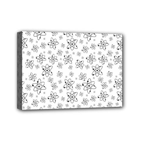 Atom Chemistry Science Physics Mini Canvas 7  X 5  (stretched) by Simbadda