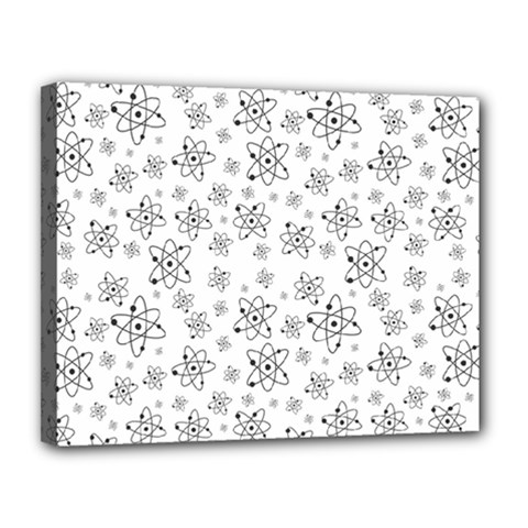 Atom Chemistry Science Physics Canvas 14  X 11  (stretched) by Simbadda