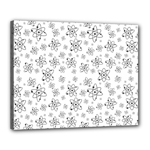 Atom Chemistry Science Physics Canvas 20  X 16  (stretched)