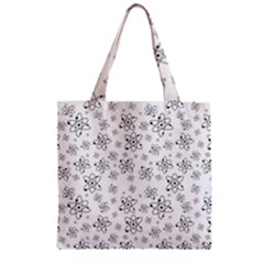 Atom Chemistry Science Physics Zipper Grocery Tote Bag