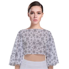 Atom Chemistry Science Physics Tie Back Butterfly Sleeve Chiffon Top