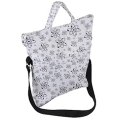 Atom Chemistry Science Physics Fold Over Handle Tote Bag