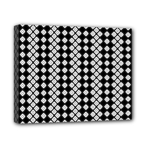 Black And White Texture Canvas 10  X 8  (stretched)