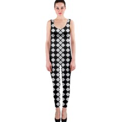 Black And White Texture One Piece Catsuit